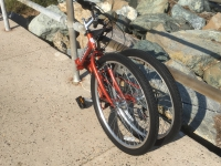 folding bike folded side view 2