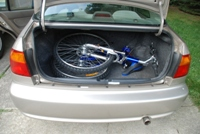 Folded Bike in a Honda Civic