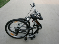 Columba folding bike folded and standing RJ26A Black