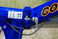 Columba folding bike frame quick release