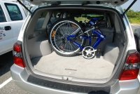 Columba folding bike in a Toyota Highlander