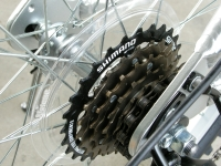 folding bike Shimano flywheel