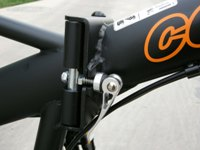 folding bike frame quick release
