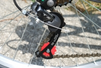folding bike rear Shimano derailleur