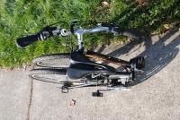 folding bike folded top view